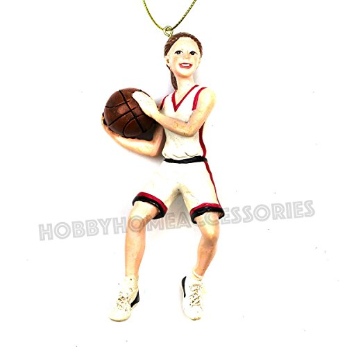 Girl Basketball Player Christmas Ornament