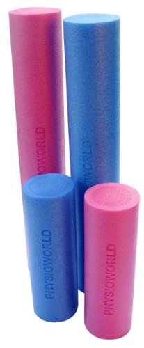 PhysioWorld Foam Roller - 45x15cm / 90x15cm - Blue / Pink