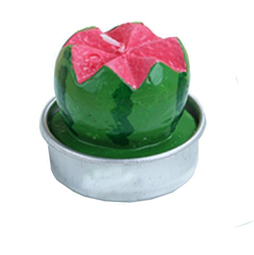 Parti personnalisés Enfants Fournitures Simulation Fruit Bougie bougies d'anniversaire Gâteau Topper (pastèque, pack de 2)