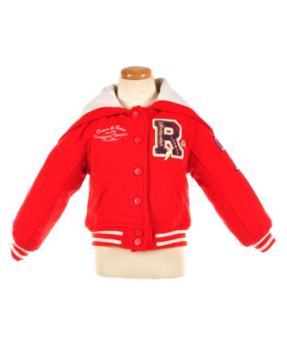 "Rocawear ""Roc Cheer"" Varsity Jacket (Sizes 7 - 16) - red plaid, 7"