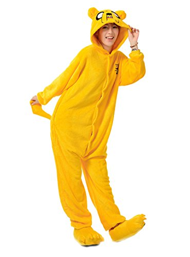 Costumes Men's Pajamas Cosplay Onesie Kigurumi Jake the Dog Size X-Large Yellow (Jake Toddler Costume)