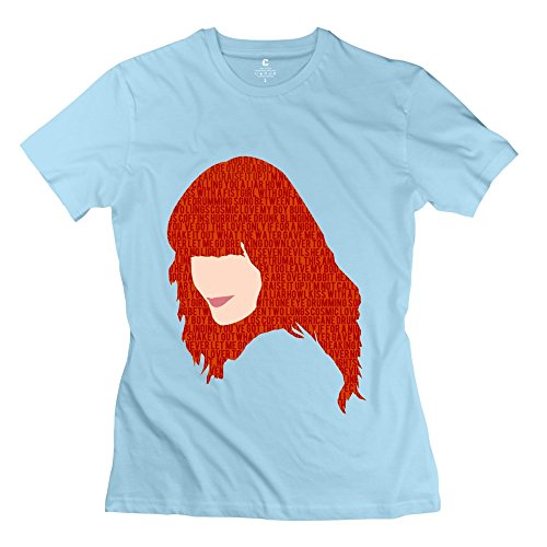 Geek Florence Welch And The Machine Women's T Shirt SkyBlue Size S
