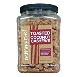 Mmmine! Delicious Toasted Coconut Cashews in a Luscious Vanilla Coating 28 Oz Jar