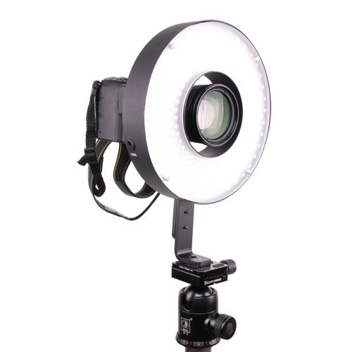 Cowboystudio Big Led 360 Ring Light Video Photography Shoot-Through Daylight With Amber Filter, Dimming Switch, Battery, 12V Ac Power Adapter, Camera Bracket, Lh-360