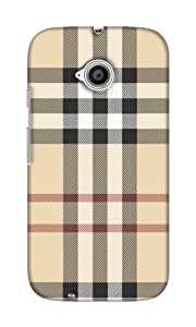 Motorola Moto E2 Hard Case Back Cover - Printed Designer Cover for Motorola Moto E2 - MOTE2CHKSB123