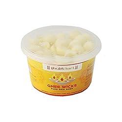 Shubhkart Ghee Wicks-Pure desi Ghee (Pack of 50 wicks)