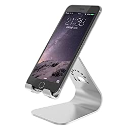 Phone Stand,INI Magnesium-aluminium Alloy phone dock for iPhone 6/SE/Samsung Galaxy S6 and other Smartphone(Silver)