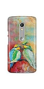 Casenation Birds Brush Painting Motorola Moto X Play Glossy Case