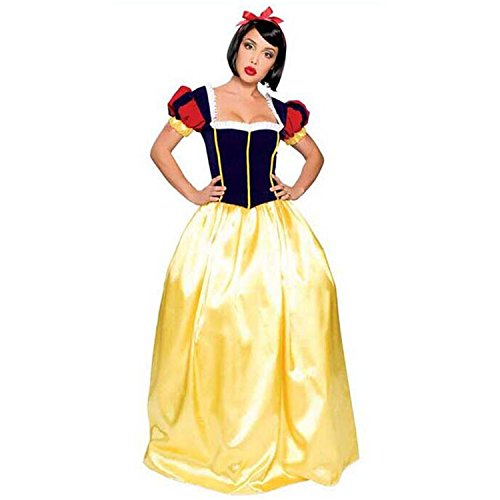 Sexy4Lady Women's Cute Adult Snow White Fairy Tales Long Costume