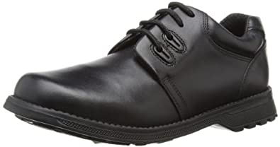 Hush Puppies Boys Crossbowman SNR Loafers H33584000 Black 4.5 UK Child, 37.5 EU