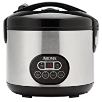 Aroma Professional 12-Cup (Cooked) Digital Rice Cooker and Food Steamer, Stainless Steel