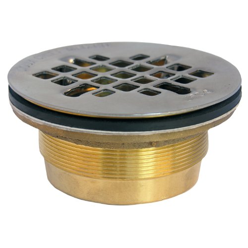 lasco-03-1223-drain-for-fiberglass-shower-with-2-inch-compression-gasket-connection-and-brass-body-w