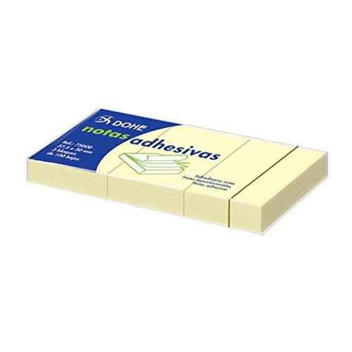 Dohe 75000 - Pack de 100 blocs de notas adhesivas, 37,5 x 50 mm