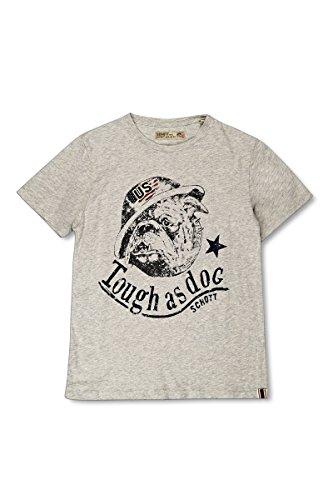 Schott NYC-Maglietta Maniche Corte Bulldog grigio 10 Anni