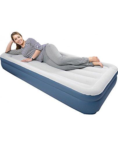 Premium-Luftbett-Gstebett-Luftmatratze-Mae-200-x-90-x-38-cm-fr-1-Person-Velours-Liegeflche-mit-einer-starken-Vinyl-Spule-Riegel-Konstruktion-High-Raised-Air-Bed-JL027297N-mit-einer-integrierten-elektr