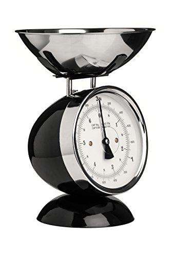 Premier Housewares 0807275 Balance de Cuisine Electronique avec Bol Acier Inoxydable Noir