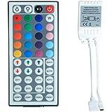 ALED LIGHT® 44 Touches de la Télécommande IR + Blanc IR Contrôleur pour RVB LED Bande 5050 SMD Ruban Lumineuse