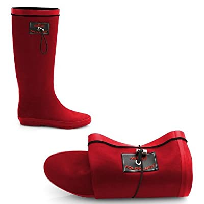 Redfoot Ruby Red Ladies Foldable Wellies