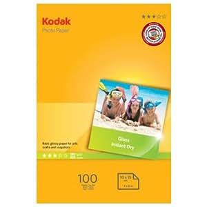 Kodak Papier photo pour impression jet d'encre A6 10 x 15 cm 180 g 100 feuilles