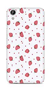 Amez designer printed 3d premium high quality back case cover for HTC Desire 626 G (strawberries)