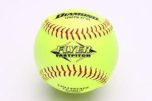 Buy Diamond Sports 12RFPK 47 CL Leather Cover Fastpitch Softball, Dozen (12-Inch) by Diamond Sports