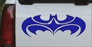 Blue 10in X 3.8in -- Tribal Batman Car Window Wall Laptop Decal Sticker