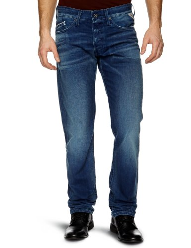 Replay Waitom 3 Slim Men's Jeans Electric Blue W36INxL32IN