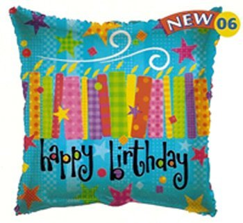 "Birthday Balloon 18"" (5 ct) - 1"