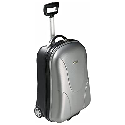 eBuy GB Hard Shell Cabin Suitcase - Abs 3Kg - Available In 2 Colours - Medium - Silver
