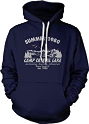 Camp Crystal Lake Summer 1980 Hoodie Vintage Movie Sweatshirt from Crazy Dog Tshirts