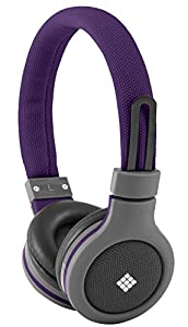 Polaroid PHP120RD Canvas Headphones With Mic, Noise Isolation Red