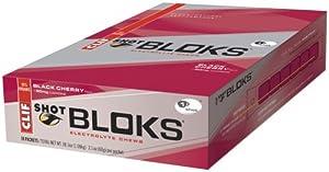 Clif Shot Bloks, Black Cherry, Pack of 18.