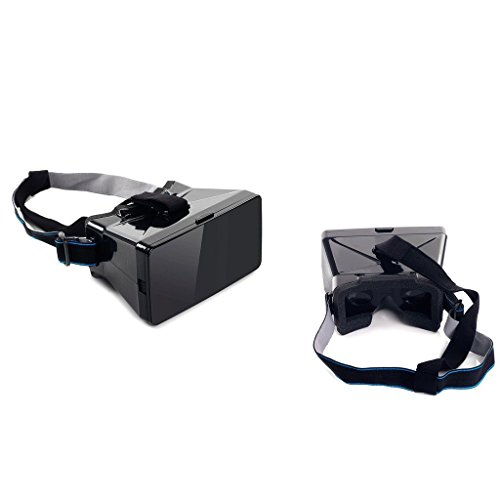 Portable Universal DIY 3d Vr Virtual Reality Video Movie Game Glasses with Sucking Disk for Iphone Samsung HTC Moto X Nexus Size up to 5.2in Mobile Smartphone, Black