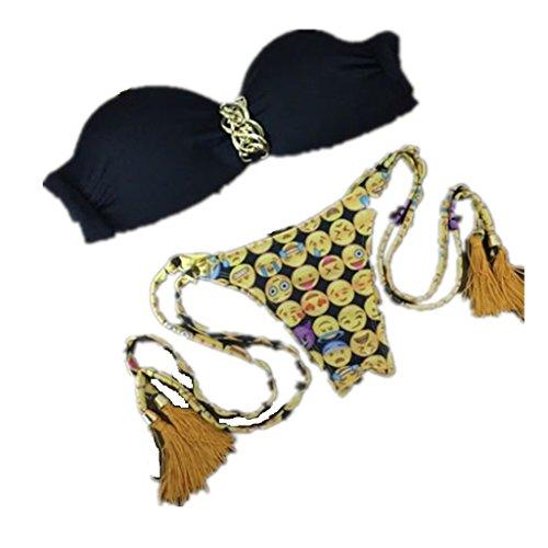 цена  Baby Box Brazilian Vintage Triangle Swimwear Bikini Bandeau Push Up Bra  онлайн в 2017 году