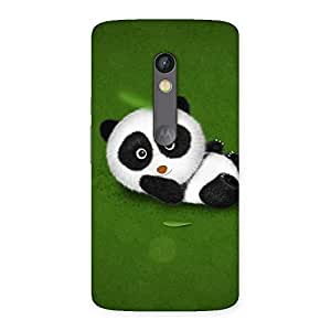 Gorgeous Panda Green Grass Back Case Cover for Moto X Play