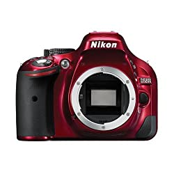 Nikon D5200 24.1 MP Digital SLR Camera Body Only (Red), Memory Card and Carry Case