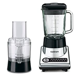 Cuisinart BFP-10CH PowerBlend Duet Blender and Food Processor, Chrome and Black