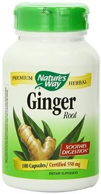 Nature's Way Ginger Root, 550 mg, 300 Capsule Pack