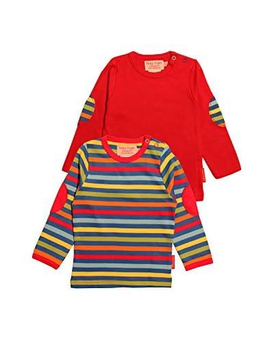 Toby Tiger Pack x 2 Camiseta Manga Larga Lstpackbold Multicolor
