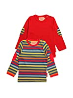 Toby Tiger Pack x 2 Camiseta Manga Larga Lstpackbold (Multicolor)