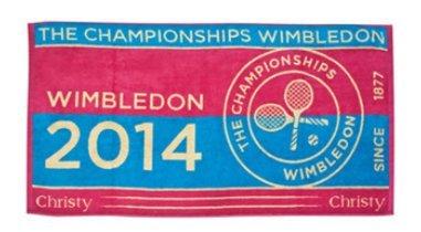 Wimbledon Lady Tennis Towel 2014 Von Christy
