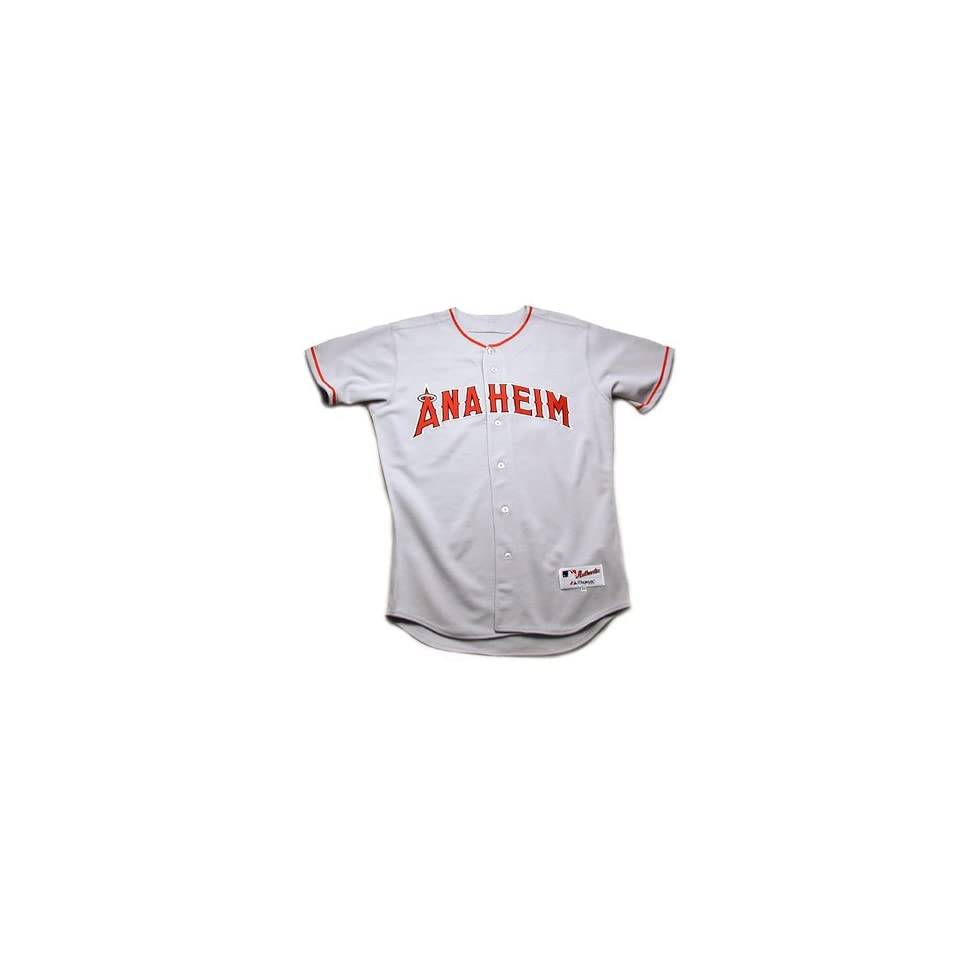 Anaheim Angels MLB Authentic Team Jersey by Majestic Athletic (Road) Size 56 (3X Large)