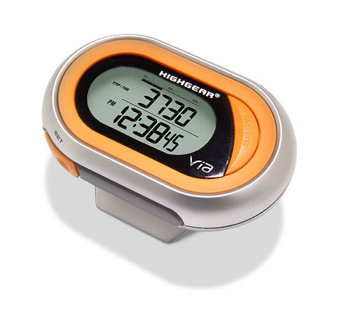 Highgear VIA Pedometer with Calorie Counter, Watch, and Chronograph