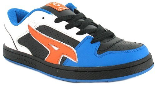 Airwalk, Sneaker uomo Bianco White/Blue/Orange 7 8 9 10 11 12, Bianco (White/Blue/Orange), 11