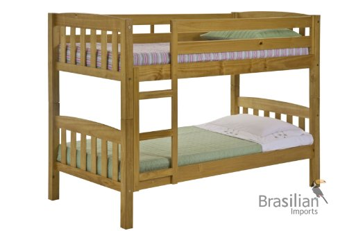 Single Pine Bunk Bed Frame only 3ft America Style - Solid Pine Construction by Verona Design