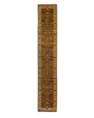 Darya Rugs Traditional Oriental Rug, Brown, 2' 6 x 14' 8 Runner