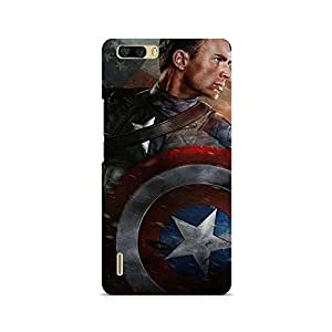 Ebby Captain America Sheild Premium Printed Case For Huawei Honor 6 Plus