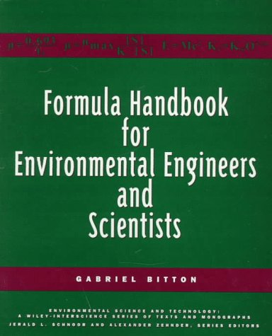 Fórmula Handbook for Environmental Engineers and Scientists (ciencia y tecnología ambiental: una serie de Wiley-Interscience de textos y monografías)