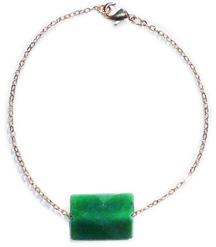 Jade cut with facets bracelet