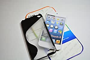 ASCENSION For Apple iPhone 5 Silicone jelly back cover stand Table talk Transparent Black